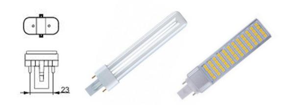 Лампы с цоколем G23