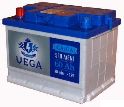 """Аккумулятор 60 """"VEGA"""" обратная полярность"""