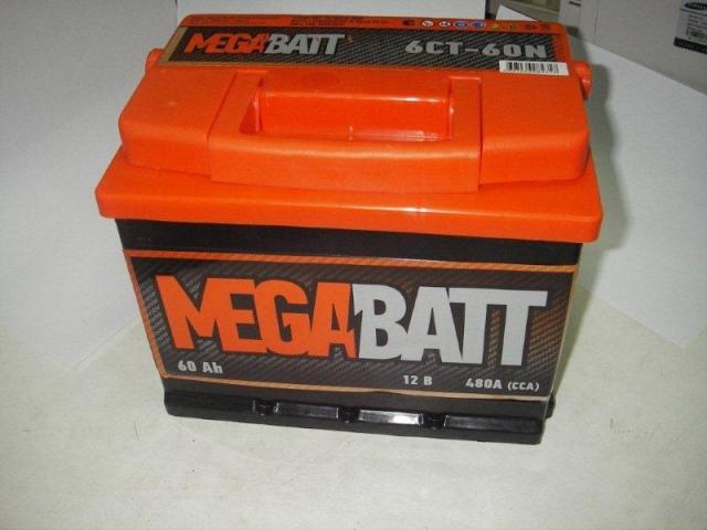 """Аккумулятор  60 """"MEGA BATT"""" обратная полярность"""