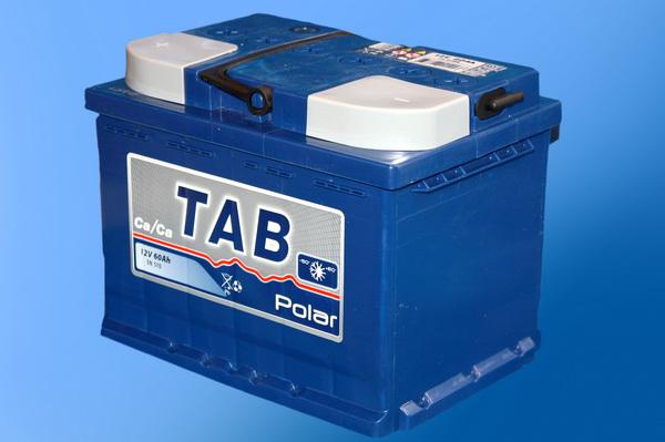 "Аккумулятор  60 ""TAB POLAR BLUE"" прямая полярность"